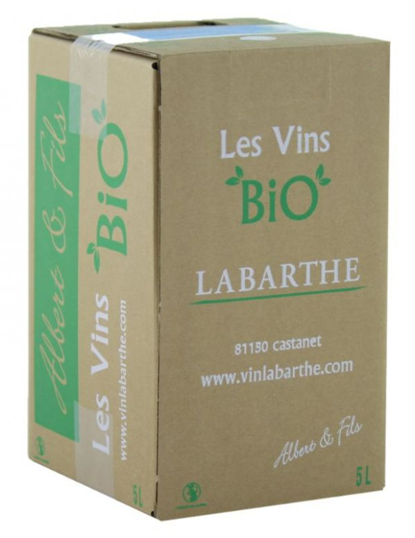 Bib vin rouge de France bio domaine de Labarthe