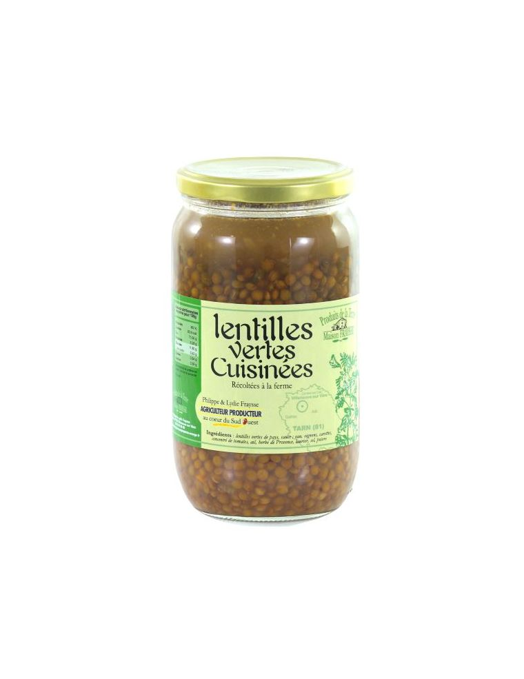 lentilles vertes cuisinées