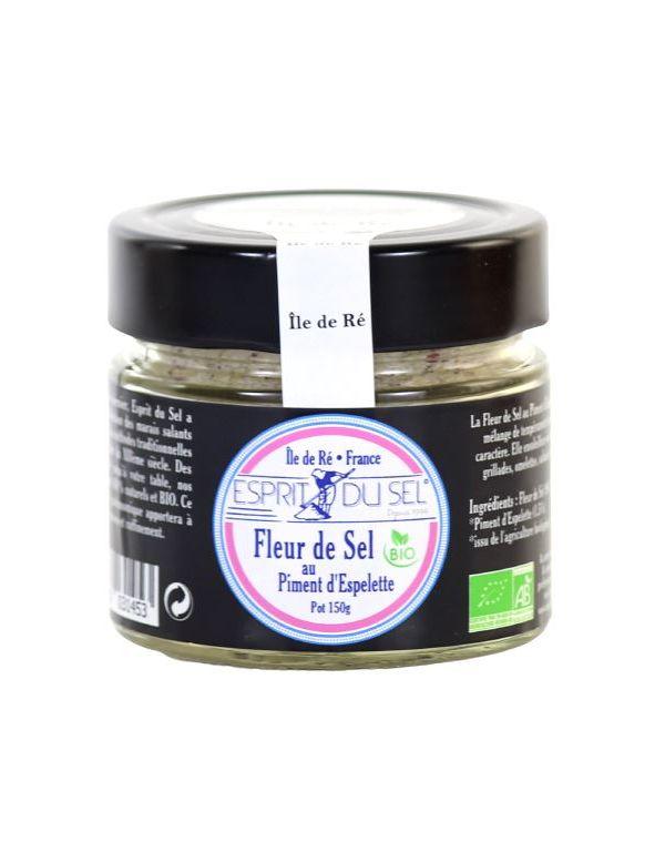 Fleur de sel au piment d'Espelette, pot de 150 g