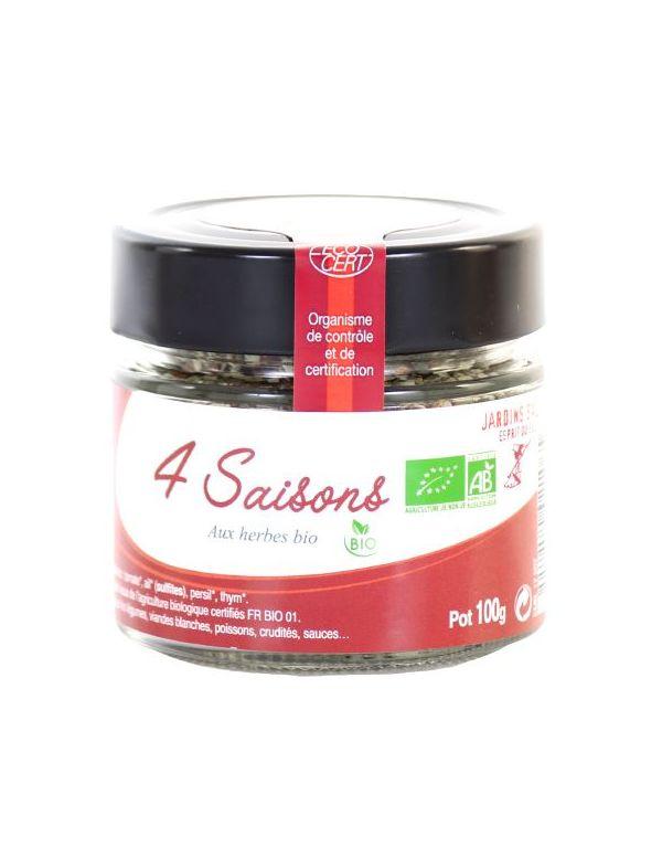 """Herbes aromatiques Bio """"4 saisons"""" pot de 100 g"""