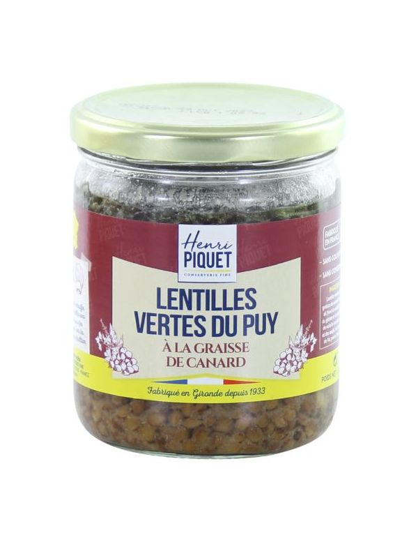 Lentilles Vertes du Puy à la graisse de canard - Henri Piquet