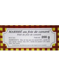 Marbré de foie gras 200 g