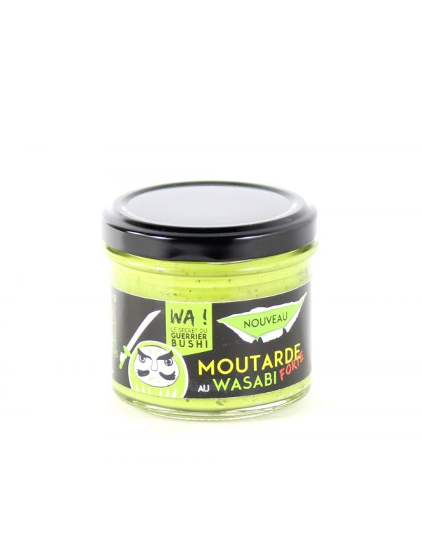 Moutarde forte au Wasabi, pot de 100 g