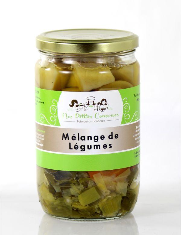 Conserve de légumes, verrine de 650 g
