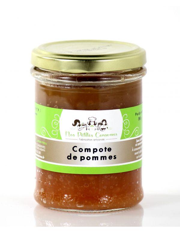 Compote de pommes artisanale verrine de 180 g