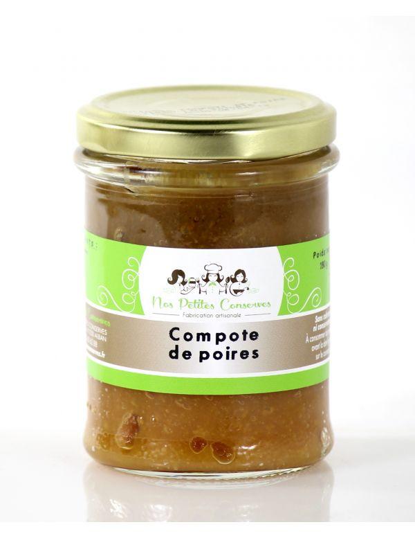 compote de poires artisanale, verrine de 180 g