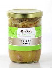 Sauté de porc au curry, plat cuisiné pour 4 personnes