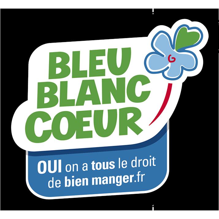logo bleu blanc coeur pour flan nature