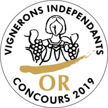médaille d'or concours vignerons independants 2019